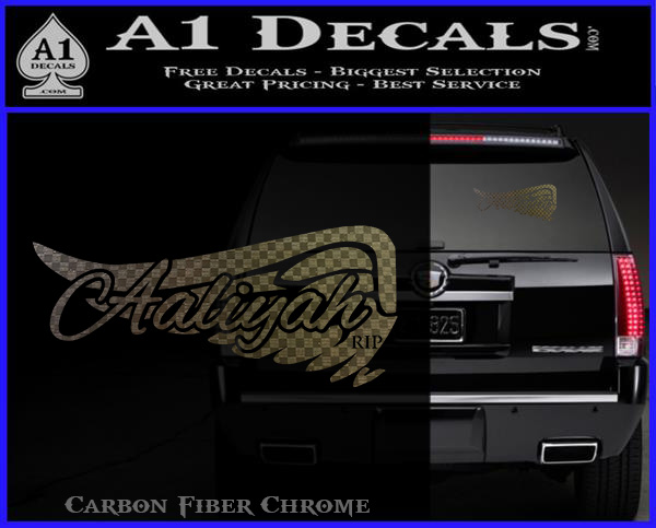 Aaliyah Signature Decal Sticker 187 A1 Decals