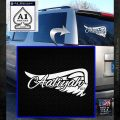Aaliyah Signature Decal Sticker White Emblem 120x120