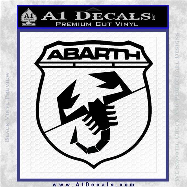 Abarath Logo Decal Sticker Black Logo Emblem