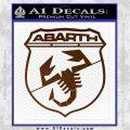 Abarath Logo Decal Sticker Brown Vinyl 120x120