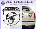 Abarath Logo Decal Sticker Carbon Fiber Black 120x97