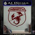 Abarath Logo Decal Sticker Dark Red Vinyl 120x120