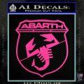 Abarath Logo Decal Sticker Hot Pink Vinyl 120x120