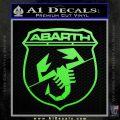 Abarath Logo Decal Sticker Lime Green Vinyl 120x120