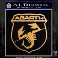 Abarath Logo Decal Sticker Metallic Gold Vinyl 120x120