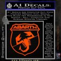 Abarath Logo Decal Sticker Orange Vinyl Emblem 120x120