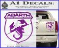 Abarath Logo Decal Sticker Purple Vinyl 120x97