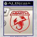 Abarath Logo Decal Sticker Red Vinyl 120x120