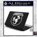 Abarath Logo Decal Sticker White Vinyl Laptop 120x120