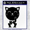 Adorable Kitty Cat DG Decal Sticker Black Logo Emblem 120x120