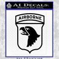 Airborne Division Decal Sticker D3 Black Logo Emblem 120x120