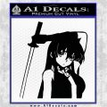 Akame Ga Kill Akame Anime Kyoko DLB Decal Sticker Black Logo Emblem 120x120