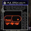 Akira Pill Anime Decal Sticker Orange Vinyl Emblem 120x120