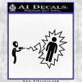 Alien Shooting Human DG Decal Sticker Black Logo Emblem 120x120