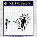 Alien Shooting Human DG Decal Sticker Black Logo Emblem 120x120