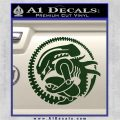 Aliens Movie CR Decal Sticker Dark Green Vinyl 120x120