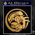 Aliens Movie CR Decal Sticker Metallic Gold Vinyl 120x120