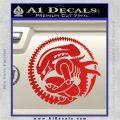 Aliens Movie CR Decal Sticker Red Vinyl 120x120