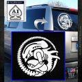 Aliens Movie CR Decal Sticker White Emblem 120x120