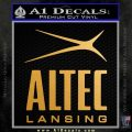Altec Lansing Logo Decal Sticker Metallic Gold Vinyl 120x120