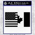 American Canadian Flag Decal Sticker Black Logo Emblem 120x120