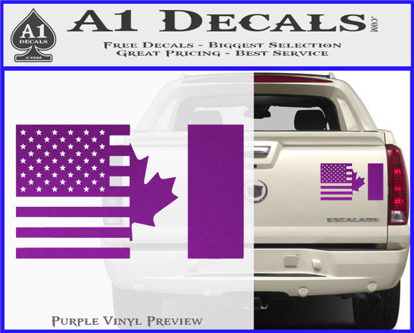 American Canadian Flag Decal Sticker A Decals - Vinyl decal stickers canada