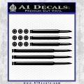 American Flag Bullets Decal Sticker Black Logo Emblem 120x120