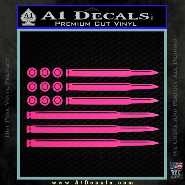 American Flag Bullets Decal Sticker 187 A1 Decals