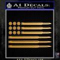 American Flag Bullets Decal Sticker Metallic Gold Vinyl Vinyl 120x120