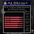 American Flag Bullets Decal Sticker Pink Vinyl Emblem 120x120