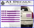 American Flag Bullets Decal Sticker Purple Vinyl 120x97
