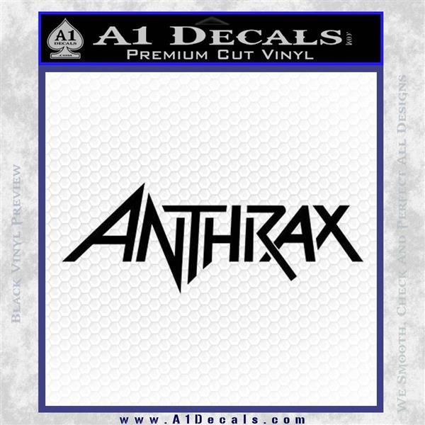 Anthrax Band Decal Sticker Black Logo Emblem