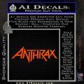 Anthrax Band Decal Sticker Orange Vinyl Emblem 120x120