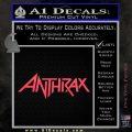 Anthrax Band Decal Sticker Pink Vinyl Emblem 120x120