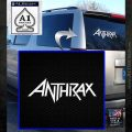 Anthrax Band Decal Sticker White Emblem 120x120