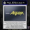 Anthrax Band Decal Sticker Yelllow Vinyl 120x120