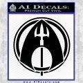 Aquaman CR DLB Decal Sticker Black Logo Emblem 120x120