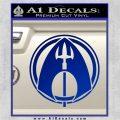 Aquaman CR DLB Decal Sticker Blue Vinyl 120x120