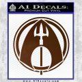 Aquaman CR DLB Decal Sticker Brown Vinyl 120x120