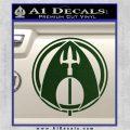 Aquaman CR DLB Decal Sticker Dark Green Vinyl 120x120