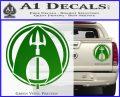 Aquaman CR DLB Decal Sticker Green Vinyl 120x97