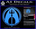 Aquaman CR DLB Decal Sticker Light Blue Vinyl 120x97