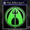 Aquaman CR DLB Decal Sticker Lime Green Vinyl 120x120
