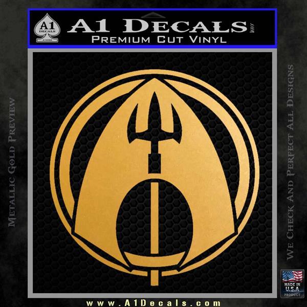 Aquaman CR DLB Decal Sticker Metallic Gold Vinyl