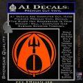 Aquaman CR DLB Decal Sticker Orange Vinyl Emblem 120x120