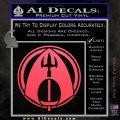 Aquaman CR DLB Decal Sticker Pink Vinyl Emblem 120x120