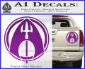 Aquaman CR DLB Decal Sticker Purple Vinyl 120x97
