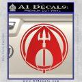 Aquaman CR DLB Decal Sticker Red Vinyl 120x120