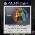 Aquaman CR DLB Decal Sticker Sparkle Glitter Vinyl 120x120