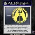 Aquaman CR DLB Decal Sticker Yelllow Vinyl 120x120